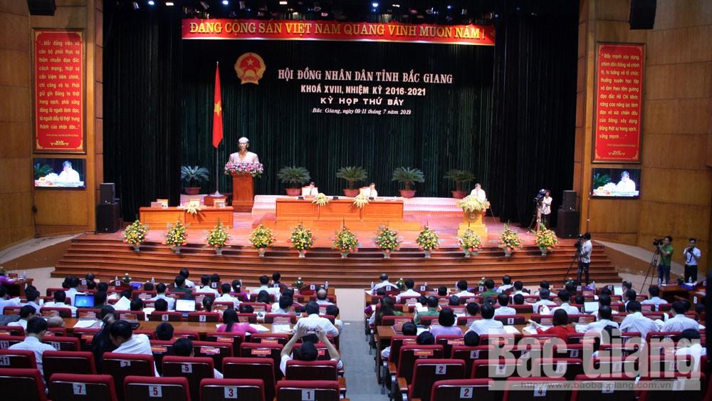 HĐND tỉnh Bắc Giang, đồng chí Bùi Văn Hải, Bí Thư Tỉnh ủy, Chủ tịch HĐND tỉnh,  kỳ họp thứ 7, HĐND tỉnh khóa XVIII (nhiệm kỳ 2016-2021)