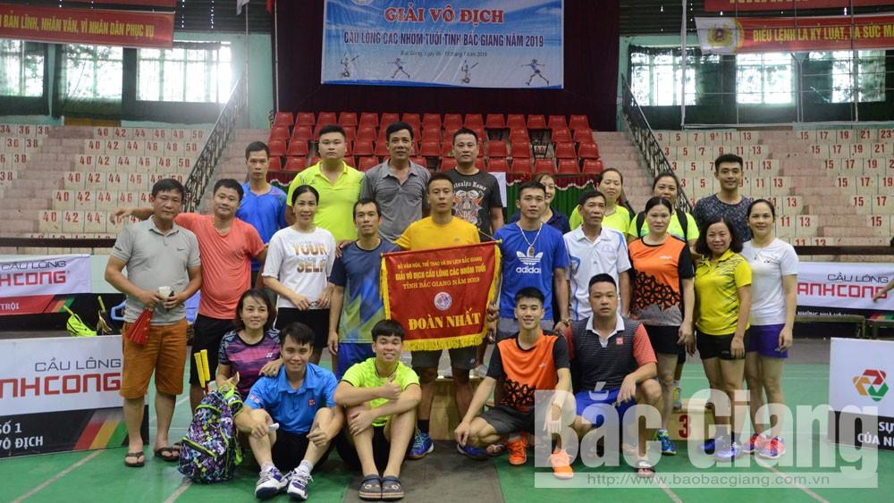 TP Bắc Giang giành ngôi Nhất toàn đoàn giải cầu lông các nhóm tuổi