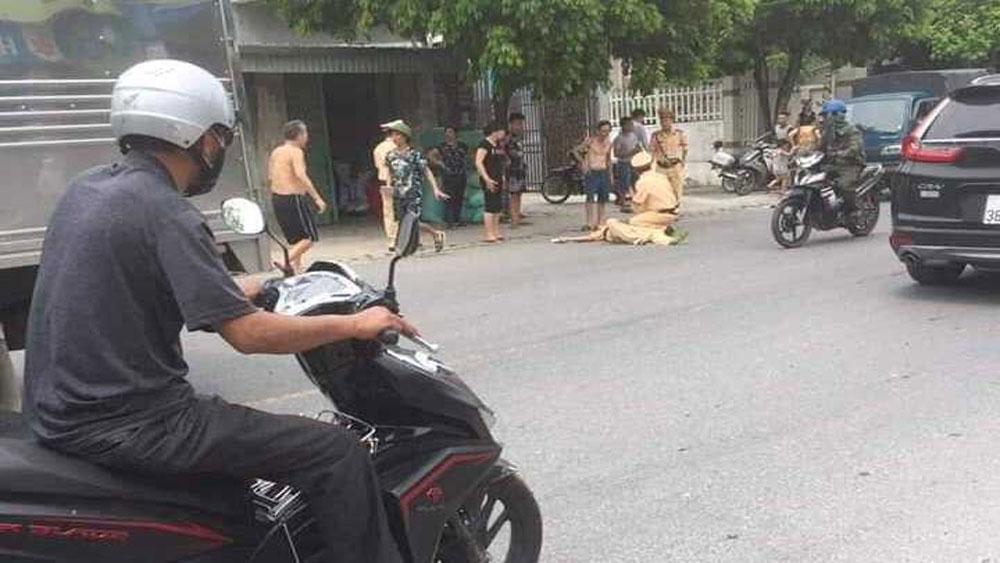 Chặn xe vi phạm, CSGT Hải Phòng, bị đâm trực diện, hất tung, Nguyễn Trọng Quý