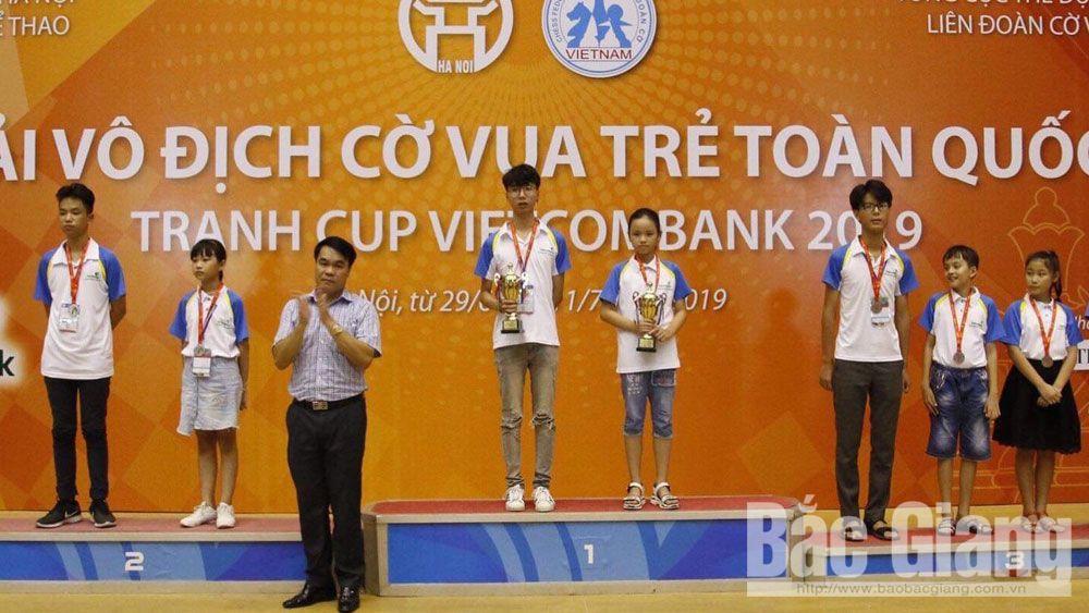Cờ vua, giải trẻ toàn quốc, Bắc Giang, giành 3 HCV