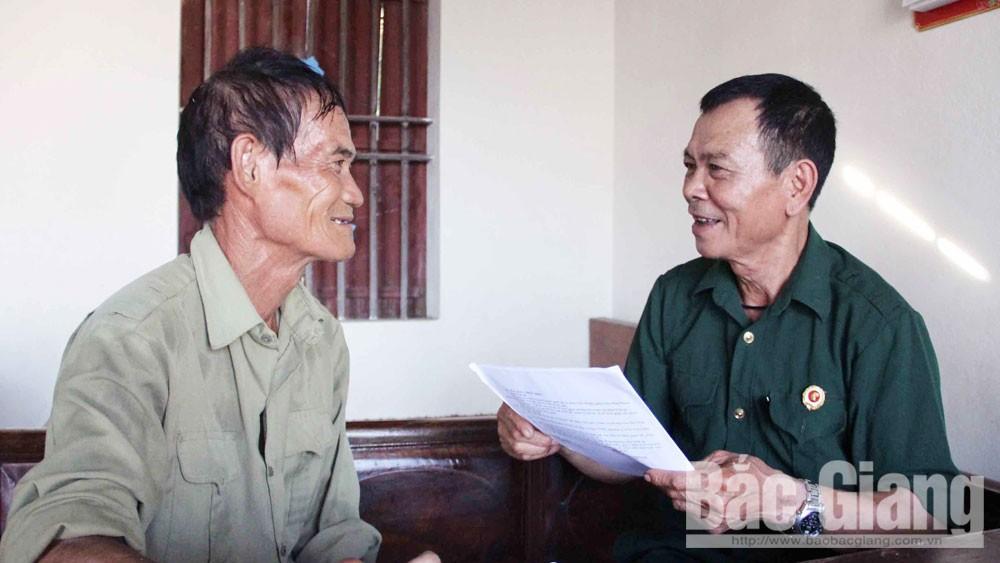 Bắc Giang, quyền và lợi ích, giám sát, hội viên, cựu chiến binh