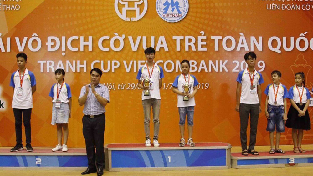 National Youth Chess Championship – Vietcombank Cup: Bac Giang win 17 medals