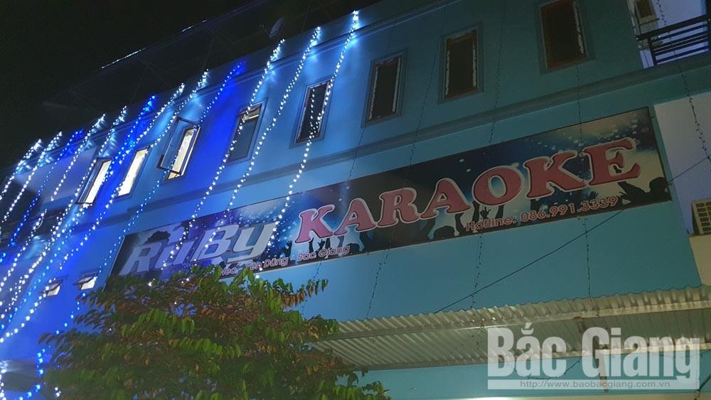 Thị trấn neo, karaoke Ruby KTV, Bắc Giang