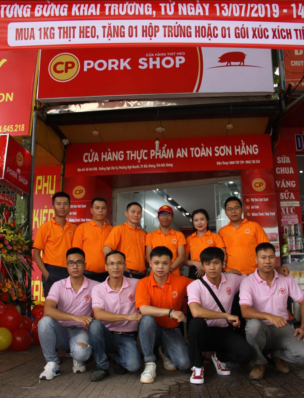 thực phẩm an toàn Sơn Hằng, CP Việt Nam, thịt lợn sạch, Bắc Giang