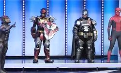 Trường quay vỡ òa với màn chào sân của những siêu anh hùng