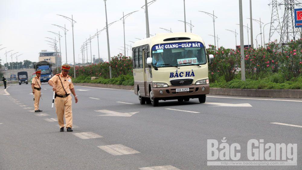 Công an Bắc Giang, Cảnh sát giao thông Bắc Giang, ra quân tổng kiểm soát xe ô tô, bảo đảm an toàn giao thông