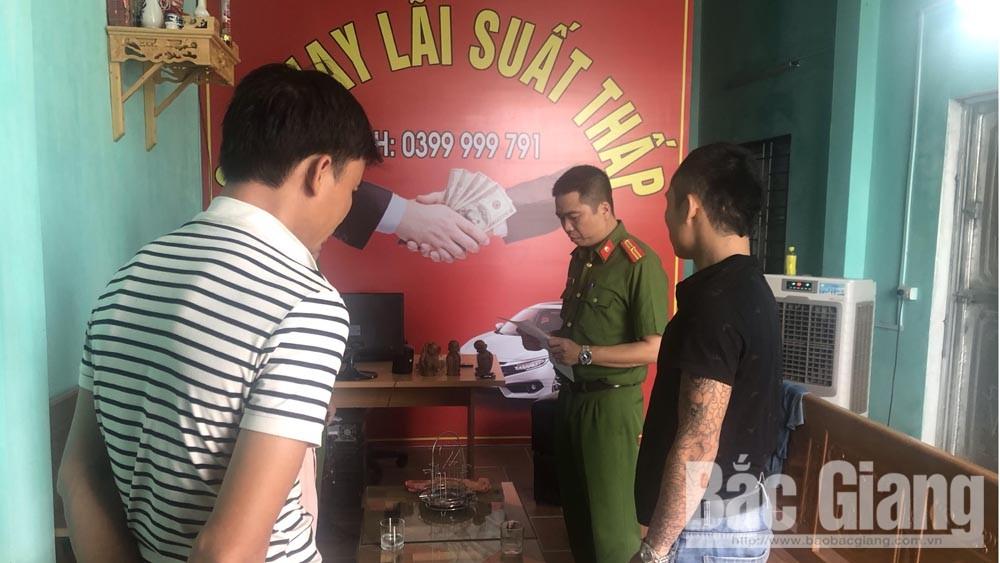 Cho vay nặng lãi, ném chất bẩn và nhà dân đòi nợ, tín dụng đen, Phòng Cảnh sát hình sự, ông an tỉnh Bắc Giang