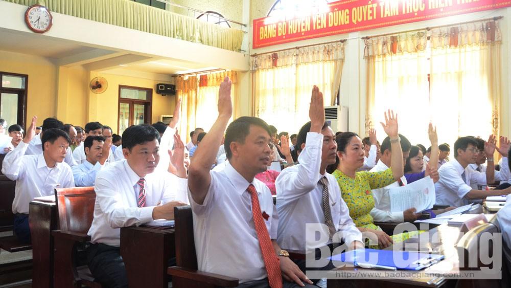 Yên Dũng, HĐND huyện, kỳ họp thứ 12, đánh giá KT-XH