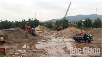Giá cát, sỏi tại Bắc Giang tăng mạnh