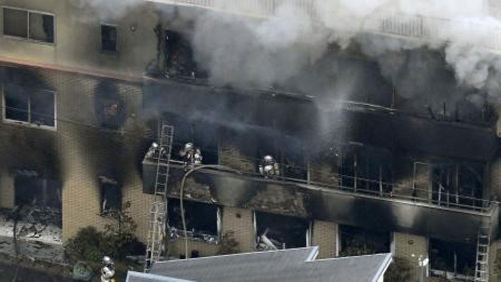 Vụ cháy xưởng phim hoạt hình ở Nhật Bản, 10 người thiệt mạng,