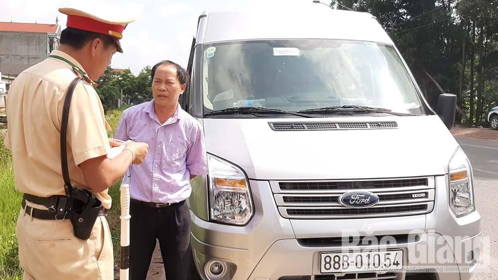 Cảnh sát giao thông Bắc Giang, Công an tỉnh Bắc Giang, tổng kiểm soát phương tiện giao thông