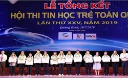 Trao 7 giải Nhất tại Hội thi tin học trẻ toàn quốc năm 2019