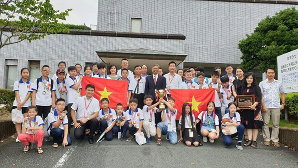 All Vietnamese students, mathematics contest, Japan, World Mathematics Invitational, primary and secondary schools,  culture exchange