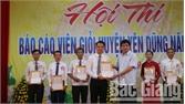 7 thí sinh tham gia Hội thi báo cáo viên giỏi huyện Yên Dũng
