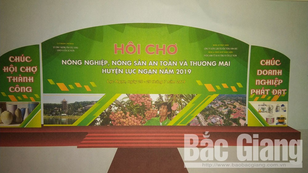 Luc Ngan district, Agricultural Trade Fair, Bac Giang province, trade promotion, trade fair, food courts, kids' entertainment area, music performances