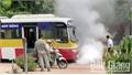 Xe buýt va chạm xe máy ở Bắc Giang, một thiếu nữ tử vong