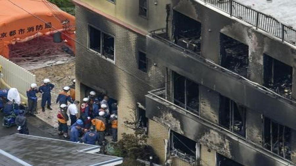Vụ cháy xưởng phim ở Nhật Bản, chính thức, buộc tội nghi can