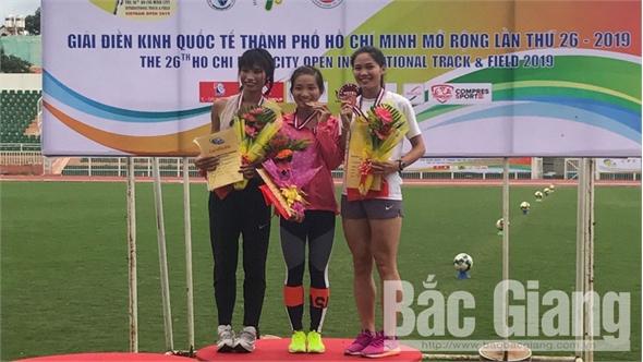 Vận động viên Nguyễn Thị Oanh (Bắc Giang) giành 2 HCV giải điền kinh quốc tế TP Hồ Chí Minh mở rộng