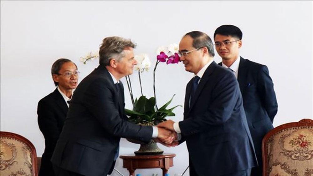 HCMC leader, French Communist Party Secretary, important milestone, mutual understanding, friendship and cooperation, start-up projects