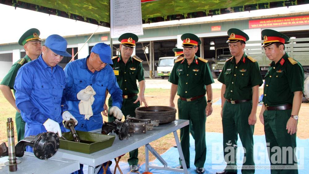 Tổng cục Kỹ thuật chấm thi tại Tiểu đoàn 51, Cục Kỹ thuật (Quân đoàn 2)