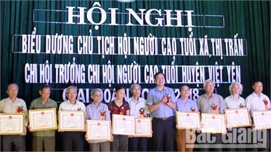 Biểu dương cán bộ hội người cao tuổi giai đoạn 2012 – 2018