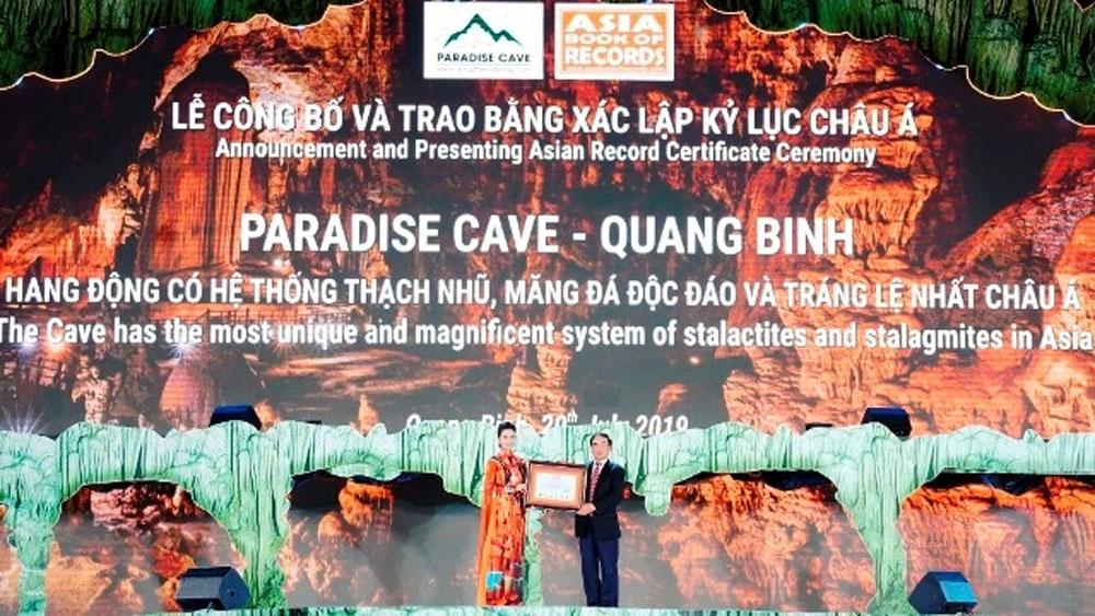 Động Thiên Đường, xác lập kỷ lục mới của châu Á, Di sản thiên nhiên thế giới Vườn quốc gia Phong Nha - Kẻ Bàng