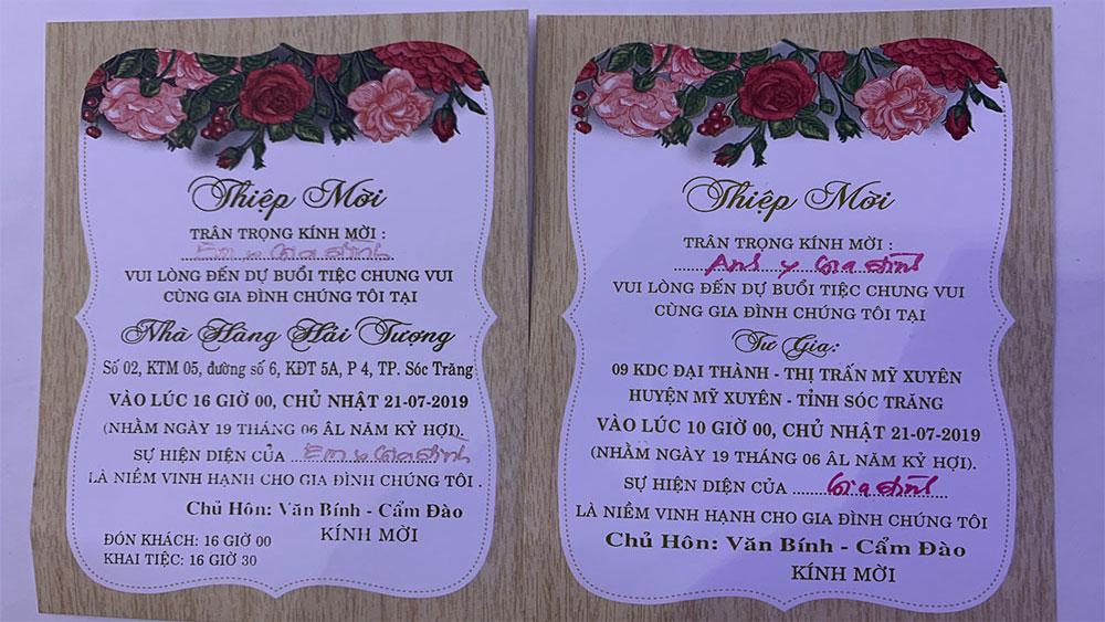 Phân trần, trưởng đoàn ĐBQH Sóc Trăng, làm đám cưới con 3 ngày, 4 tiệc, Hồ Thị Cẩm Đào