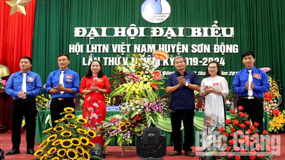 Đại hội đại biểu Hội Liên hiệp Thanh niên huyện Sơn Động lần thứ V