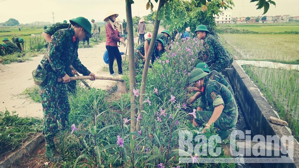 Yên Dũng, Trung đoàn 2, làm công tác dân vận, bộ đội.
