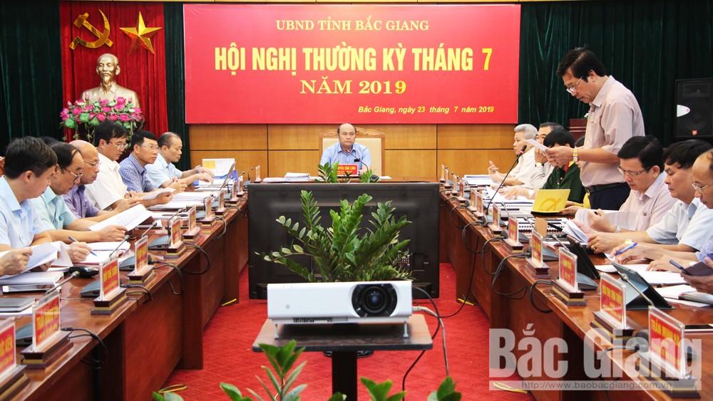 Thường kỳ tháng 7, Bắc Giang, hoàn thành chỉ tiêu, KT-XH, UBND tỉnh Bắc Giang