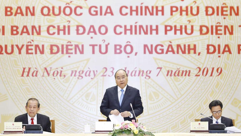 Thủ tướng Nguyễn Xuân Phúc, chính phủ điện tử, lấy sự thuận tiện, hài lòng của người dân, làm mục tiêu