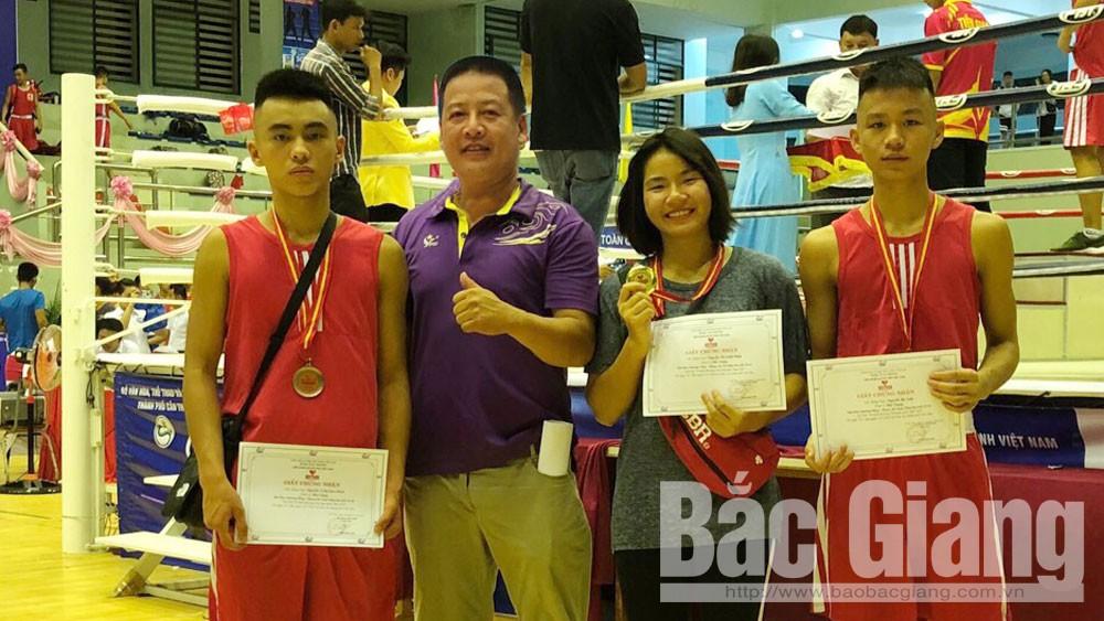 Bắc Giang, môn boxing, giành HCV, toàn quốc.