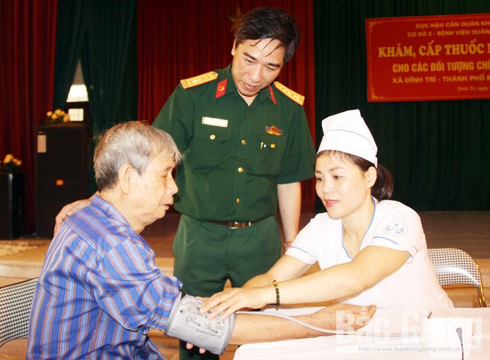 Dĩnh Trì, TP Bắc Giang, quân dân y, Bệnh viện Quân y 110, người có công