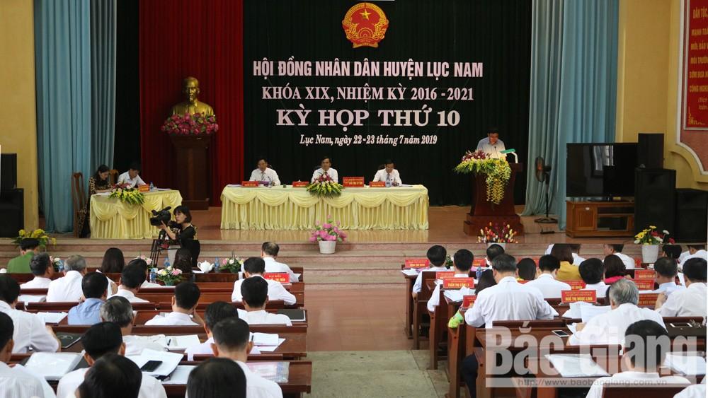 lục nam, hđnd huyện, kỳ họp thứ 10