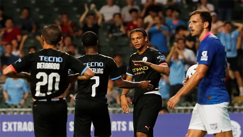 Man City Kitchee, giao hữu tập huấn hè, Sterling, Guardiola, David Silva