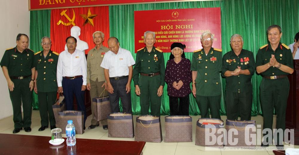 Hội CCB tỉnh Bắc Giang, gặp mặt thương binh, kỷ niệm 72 năm ngày Thương binh, Liệt sĩ