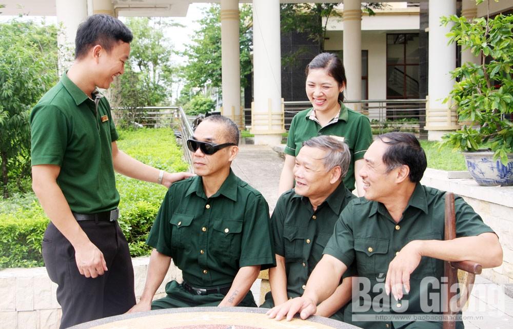Bắc Giang, Sở Lao động - Thương binh và Xã hội, Trung tâm Điều dưỡng Người có công, người lính, thương binh nặng