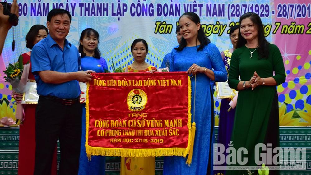 Tân Yên, tuyên dương, Liên đoàn Lao động huyện Tân Yên, công đoàn