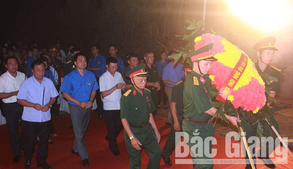 Bắc Giang, lễ thắp nến tri ân anh hùng liệt sĩ