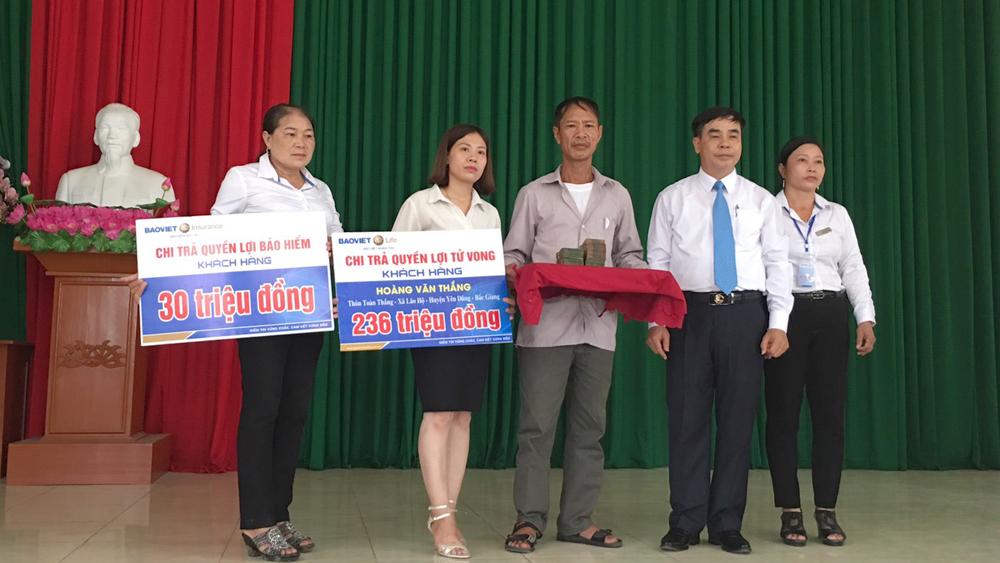 Bảo Việt nhân thọ, Bắc Giang, quyền lợi bảo hiểm, khách hàng, rủi ro, tai nạn, tử vòng