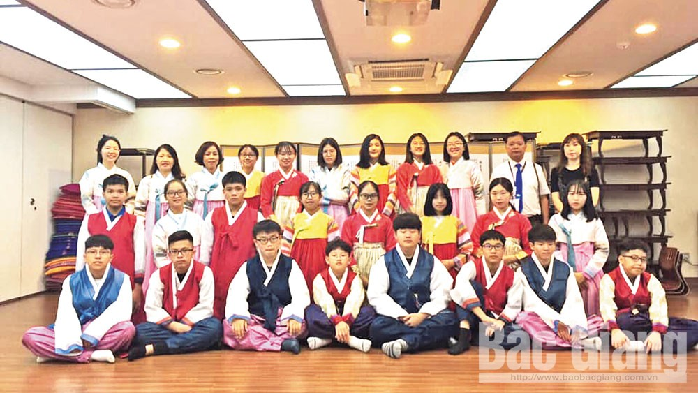 Memorable experiences, Bac Giang province, Le Quy Don Secondary School, exchange trip, Daejeon Munjeong Secondary School, life skill education, outdoor activities, educational methodology