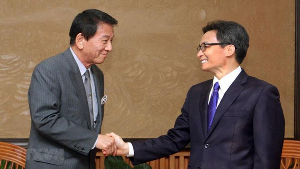 Deputy PM, Vu Duc Dam, Vietnam – Japan, Special Ambassador, active contributions, bilateral ties, people-to-people exchange