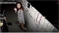Cô gái trộm giày phòng bên, xấu hổ khi phát hiện camera