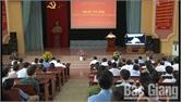 Huyện ủy Lục Nam tổ chức hội nghị trực tuyến về thực hiện Di chúc của Chủ tịch Hồ Chí Minh