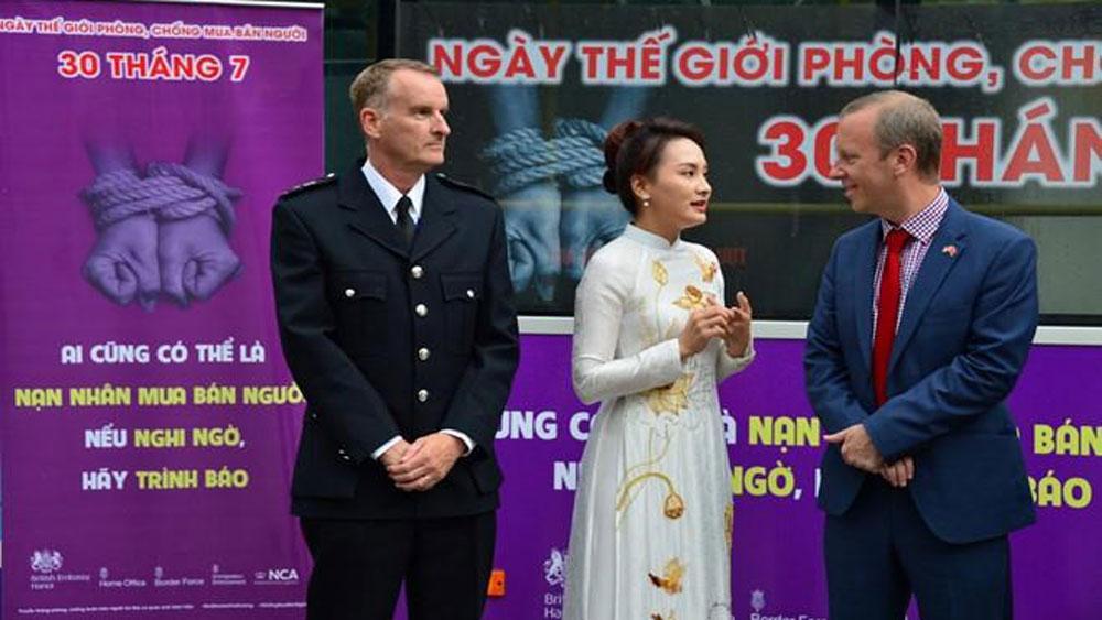 British Embassy, anti-human trafficking campaign, Vietnam, public awareness,  legal framework, Southeast Asian countries