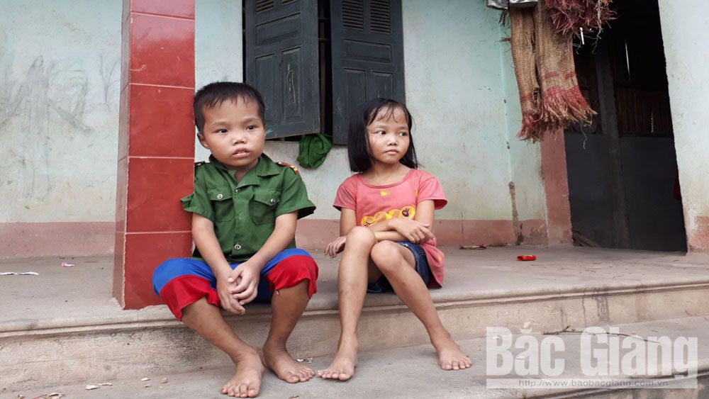 Bé Tô Thị Thanh Hương và em ruột là Tô Minh Nguyễn, địa chỉ từ thiện, hoàn cảnh khó khăn, Bắc Giang,