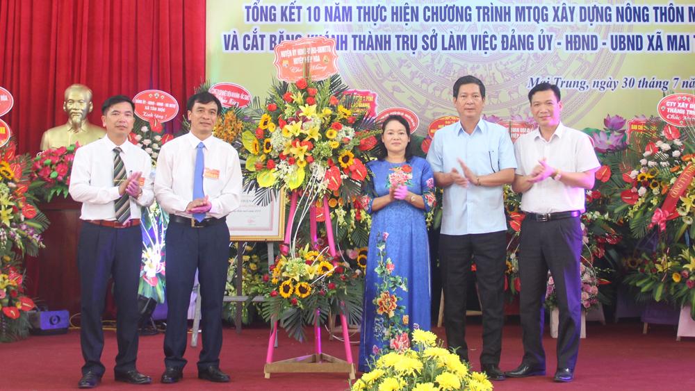 Xã Mai Trung (Hiệp Hòa) được công nhận đạt chuẩn nông thôn mới