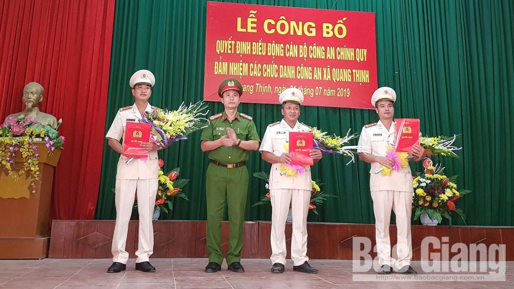 Bắc Giang: Đưa công an chính quy đảm nhiệm các chức danh ở 14 xã, thị trấn