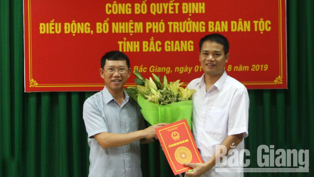 Điều động, bổ nhiệm cán bộ, Ban dân tộc, ông Lê Bá Xuyên, Ban Dân tộc tỉnh Bắc Giang