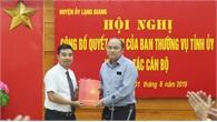 Đồng chí Ngô Thanh Linh giữ chức vụ Phó Bí thư Thường trực Huyện ủy Lạng Giang